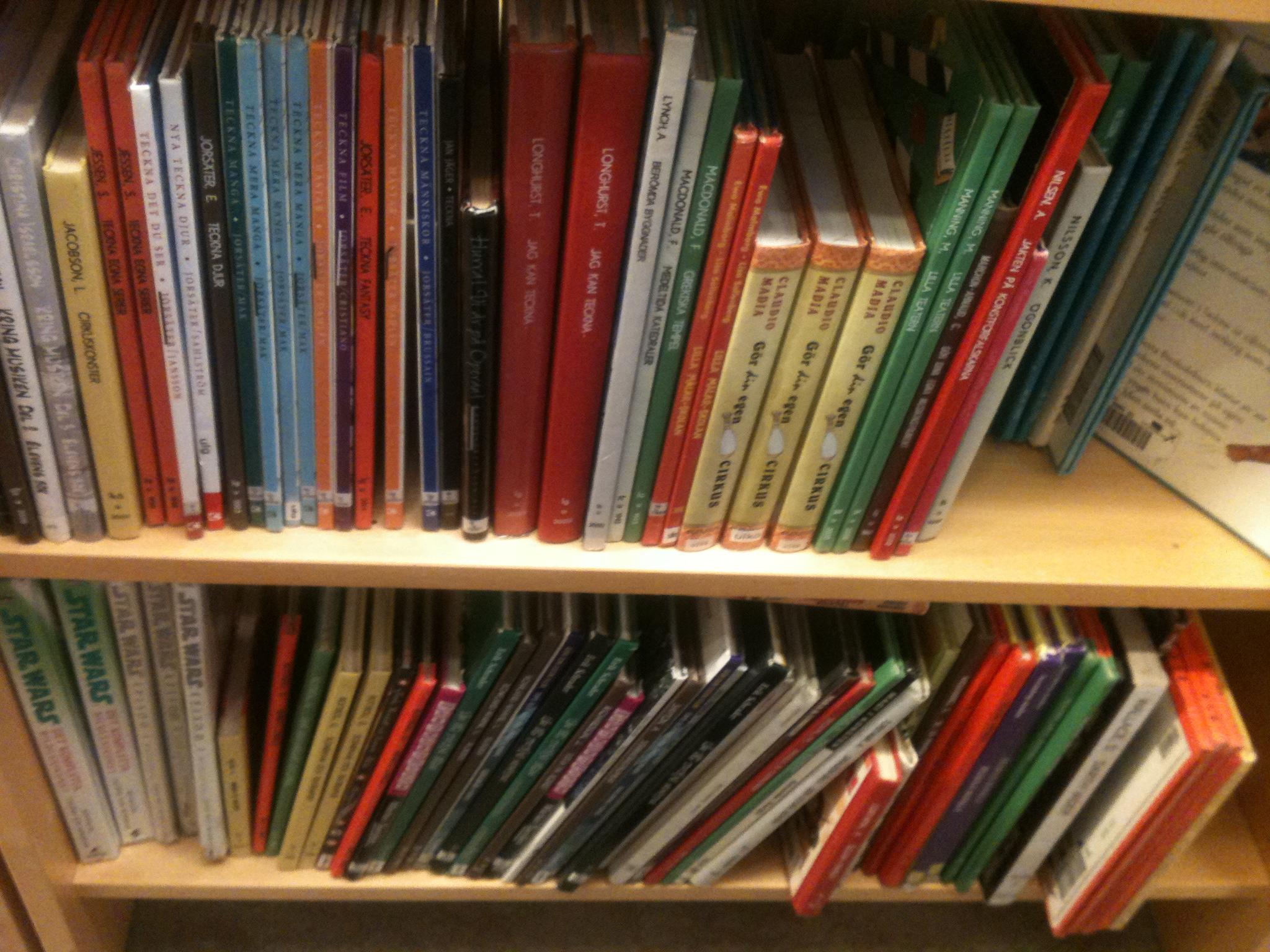 Teckningsböcker på biblioteket i Stenungsund